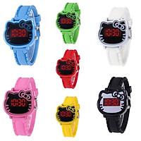 Đồng hồ thời trang trẻ em điện tử led Hello Kitty T474