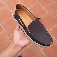 Giày Lười Nam Da Bò Mềm Đế Cau Su Đúc LC35