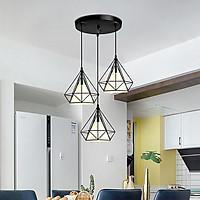 Bộ 3 đèn thả treo trần KIM CƯƠNG độc đáo - kèm bóng LED và đế ốp trần