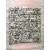 Bộ 10 tấm xốp dán tường 3D giả đá dày 6mm xám nhạt