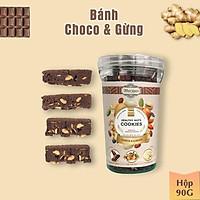 Bánh Healthy DARK CHOCOLATE & GỪNG mix hỗn hợp hạt Organic dùng tập luyện thể thao, gym, ăn vặt