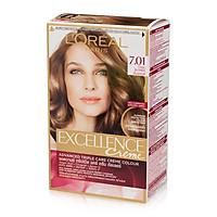 Kem Nhuộm Dưỡng Tóc Phủ Bạc L'oreal Excellence Cream 172ml - Màu 7.01 Vàng Sáng Năng Động
