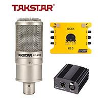 Combo mic thu âm chuyên nghiệp - Micro Takstar PC K200, Soundcard K10 - HÀNG CHÍNH HÃNG