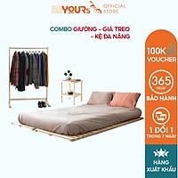 Bộ Phòng Ngủ BEYOURs Giá Treo Quấn Áo Kệ Đa Năng Đầu Giường Ngủ Skinny Pallet Nội Thất Lắp Ráp Phòng Ngủ