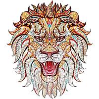Bộ xếp hình gỗ đồ chơi  ghép hình con vật, bộ xếp hình trí tuệ, quà tặng bạn bè - con Sư tử