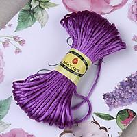 Bó 10m-20m dây tím bóng handmade loại 1,5mm - Dây vải bóng 1.5mm để đan vòng, thắt dây handmade - Ngọc Quý Gemstones - Bó 10m - Tím
