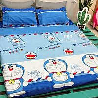 Set 3 món ga gối Poly cotton PL2 - Doraemon + Tặng 1 vỏ gối ôm - Tặng kèm 1 móc khóa Houston