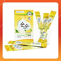 Nước súc miệng Soonsoo dạng gói cao cấp nhập khẩu Hàn Quốc (10 gói/hộp Không cồn không cay, người lớn và trẻ em đều dùng được)