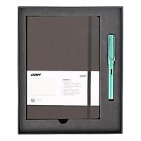 Gift Set Lamy Notebook A5 Softcover Umbra + Lamy Al-Star Bluegreen - GSNAl0017