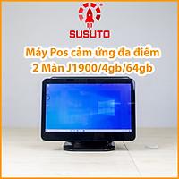 Máy POS bán hàng SC-110AS - Hàng chính hãng (J1900, 4G DDR RAM, 64G SSD, 15 inch, Black, 2 màn)