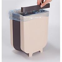 Thùng rác, Giỏ rác VUÔNG đa năng gấp gọn treo kẹp tủ bếp nhựa dẻo siêu bền cho nhà bếp và xe hơi (màu ngẫu nhiên) GD352-ThungracGG-Vuong