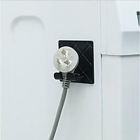 Móc dán tường kẹp giữ đầu dây điện gấp gọn, treo vật dụng nhà bếp, phòng tắm siêu gọn gang,tiện lợi (giao màu ngẫu nhiên)