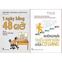 Combo Sách - 1 Ngày Bằng 48 Giờ: Sổ tay quản lý thời gian hiệu quả + Không Phải Thiếu May Mắn, Chỉ Là Chưa Cố Gắng