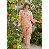 Bộ dài nữ tay lỡ Tvm Luxury Homewear B509