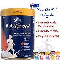 Sữa Cho Trẻ Biếng Ăn Aptamil AptaGrow 3+ NK Úc Giàu Chất Dinh Dưỡng, Vitamin Và Khoáng Chất Giúp Bé Phát Triển Chiều Cao, Cân Nặng, Trí Não, Tăng Chức Năng Hệ Thống Miễn Dịch – Lon 900g