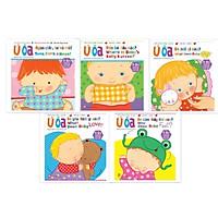 Combo Sách Ú Òa (Sách lật song ngữ Anh - Việt) - Trọn bộ 5 cuốn - Dành cho trẻ từ 1-5+ tuổi (tặng kèm 1 tẩy hình thú như hình)