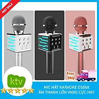 Mic Karaoke Ds 868 - 858 Kết Đa Chức năng Kết nối TV, MTB,ĐT,.....kiêm loa bluetooth- kết nối Ra Loa thùng 2021