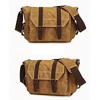Túi máy ảnh vải bố kết hợp da imax-V231