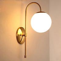 Đèn gắn tường trang trí hiện đại cao cấp thân vàng treo quả cầu VK11