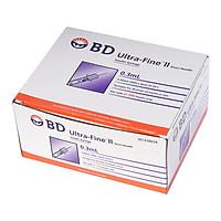 Bơm tiêm kim tiểu đường Isulin BD 0,3cc x 30G - hộp 100 cây