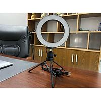 Bộ Đèn Tròn Led Livestream, Chụp Ảnh Kèm Giá Đỡ 3 Chân Kích Thước 17.2cm x 3.5cm x 21.1cm