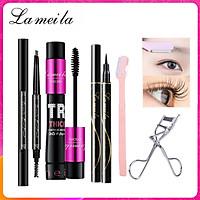 Bộ Trang Điểm 5 Món LAMEILA Bút chì mày + Kẻ Mắt + Mascara + Curler Lông Mi + dao tỉa