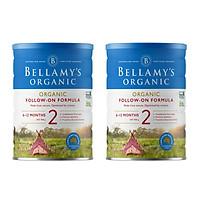 2 Lon Sữa Bột Bellamy's Organic Số 2 (900g)