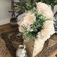 Bình Hoa Giả - Hoa Mẫu Đơn Và Hoa Điểm Trắng - Hoa Giả Để Bàn - Hoa Vintage