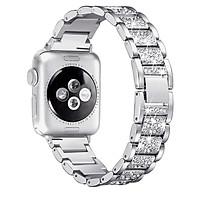 Stainless Steel Watch Band Apple Watch iwatch band 38MM 42MM 40mm 44mm Metal Diamond Bracelet Series 6 SE 5 4 3 2 1
