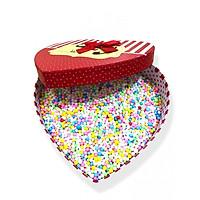 Hộp quà tim 21*20*9cm chứa hạt xốp,giao mẫu ngẫu nhiên