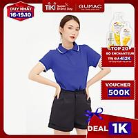 Áo thun polo nữ thiết kế xẻ lai basic, năng động, trẻ trung GUMAC  ATB109