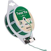 Cuộn dây buộc đồ đa năng Twist Tie GX-012, 100m Dây nhựa, lõi kẽm buộc Lan Dây leo