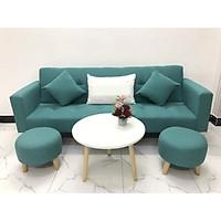 Bộ ghế sofa giường 2mx90 sofa bed tay vịn phòng khách linco05 sopha