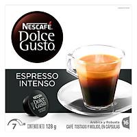 Hộp 16 Viên Nén Cà Phê Rang Xay Nescafe Dolce Gusto - Espresso Intenso 128g