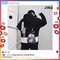 Nikafashion Áo Hoodie Nón Unisex Nam Nữ Chất Vải Nỉ Freesize 1 kích cỡ Form Dáng Rộng Dưới 65kg Mặc Đẹp G.O.K.U