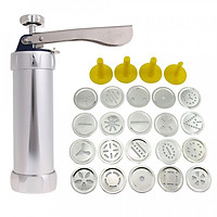 25Pcs Aluminium Alloy Press Machine Biscuit Making Pump Multi Pattern Cookie Biscuits Maker Cookies Mold Extruder