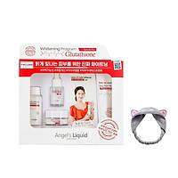 Bộ Kit 4 Sản Phẩm Dưỡng Trắng Da, Làm Mờ Thâm Angel's Liquid Whitening Program Glutathione Special Kit + Tặng Kèm Băng Đô Tai Mèo ( Màu Ngẫu Nhiên)