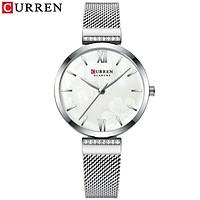 Curren Fashion Watch Women Exquisite 3 ATM Waterproof Quartz Watch Classic Stainless Steel Band Wrist Watch