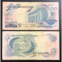Tiền tiền xưa Việt Nam 1000 đồng trong bộ hoa Văn sưu tầm