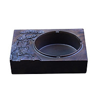 Gạt tàn thuốc lá hình BÁCH TÙNG gỗ mun tự nhiên nguyên khối đục CNC chống cháy