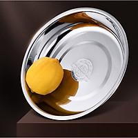 Dĩa Inox 304 Cao Cấp - 20x3.6cm ( Đáy: 14.5cm), 640ml, 138g