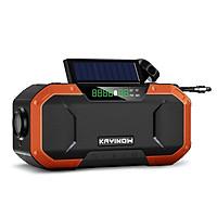 Emergency Solar Hand Crank Radio 5000mAh Power Bank Charger Flash Light Outdoor Camping Survival Radio