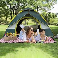 Lều Cắm Trại Lều Du Lịch Tự Bung Gấp Gọn Chống Nước 3-4 Người