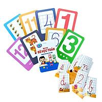 Thẻ Flashcard Bé Học Toán Tập Đếm Và Viết Số Cho Trẻ 4 - 6 Tuổi Kèm Thẻ Học Chữ