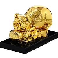 Quà tặng tết: Tượng heo vàng phúc Lộc Thọ mạ vàng 24K