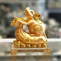 Tượng Chuột Vàng Trên Túi Vàng Đế Thuỷ Tinh - Đời Đời Phát Tài TM023
