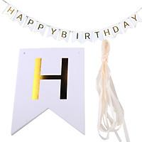 Dây treo trang trí sinh nhật chữ Happy Birthday màu trắng