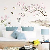 Decal dán tường cành hoa đào SK9286 ZooYoo
