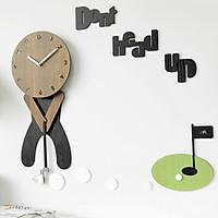 Đồng hồ treo tường trang trí nhà cửa , decor mọi không gian - Golf Play wall clock