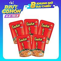 Combo 5 Gói Lớn Snack Bim Bim Bánh Que Đỏ Dorkbua Lotus Biscuit Stick Vị Tôm (55g / Gói) Nhập Khẩu Từ Thái Lan